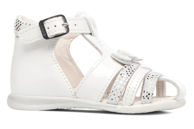 Sandales et nu-pieds Bopy Zafa Blanc vue derrière