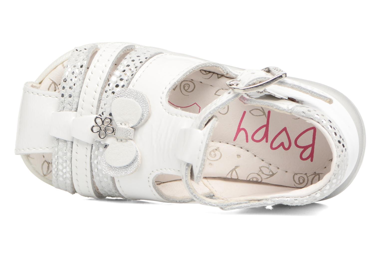 Sandales et nu-pieds Bopy Zafa Blanc vue gauche