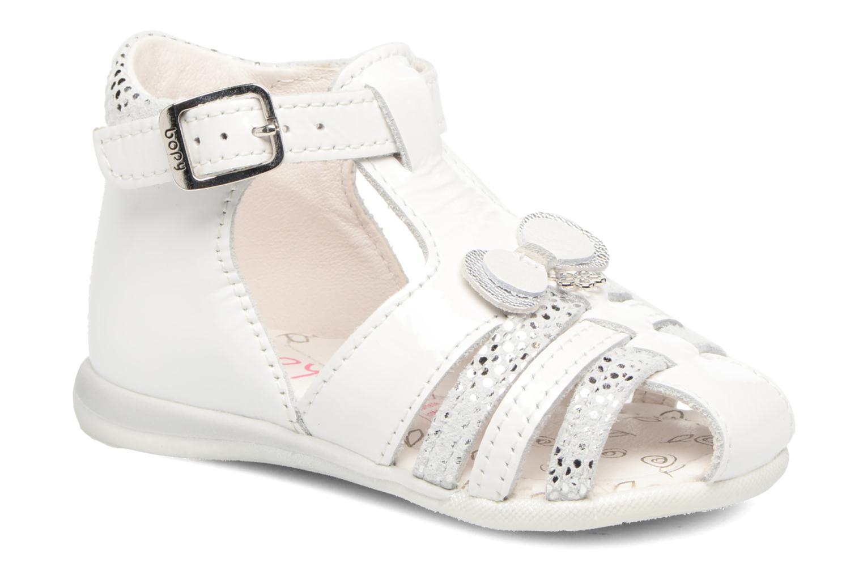 Sandales et nu-pieds Bopy Zafa Blanc vue détail/paire