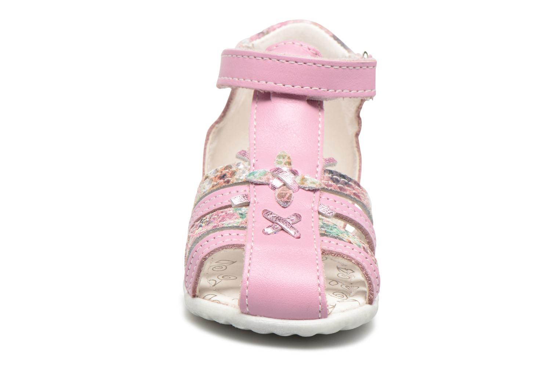 Sandales et nu-pieds Bopy Zocara Rose vue portées chaussures