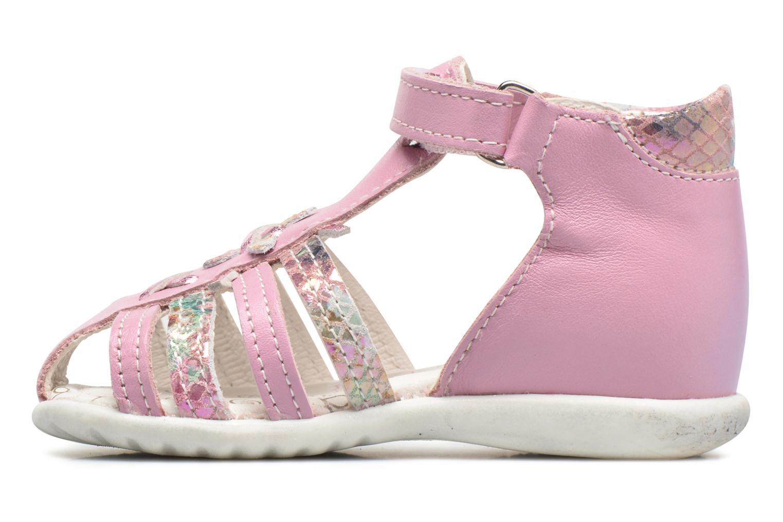 Sandales et nu-pieds Bopy Zocara Rose vue face