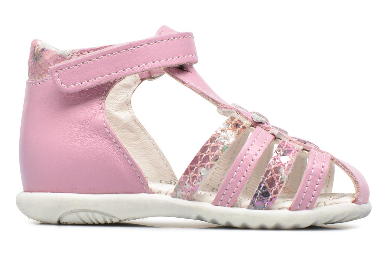 Sandales et nu-pieds Bopy Zocara Rose vue derrière