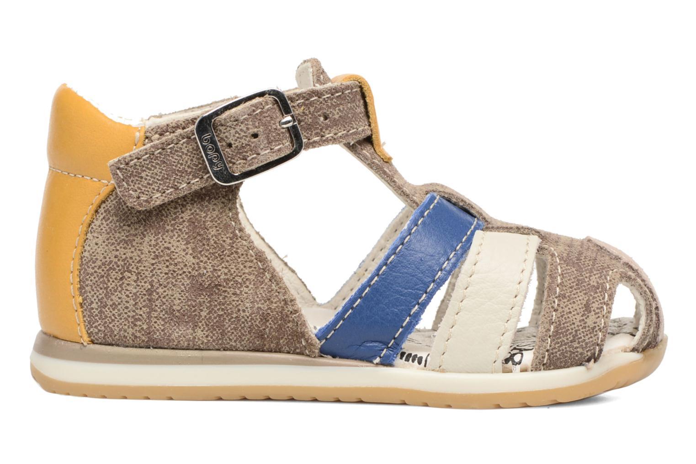 Sandales et nu-pieds Bopy Zinedine Marron vue derrière