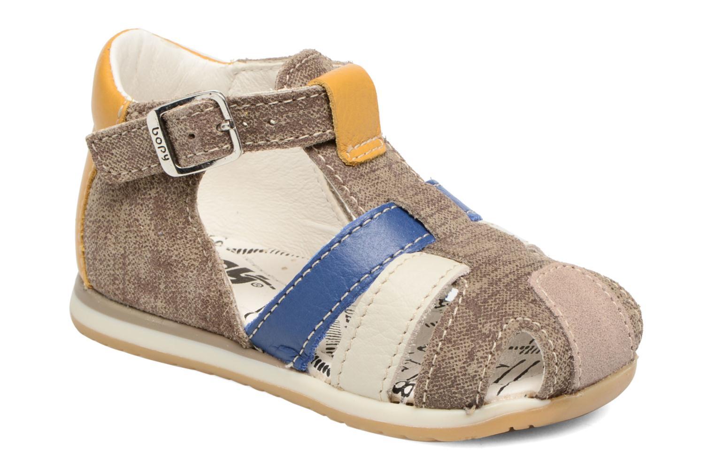 Sandals Bopy Zinedine Brown detailed view/ Pair view