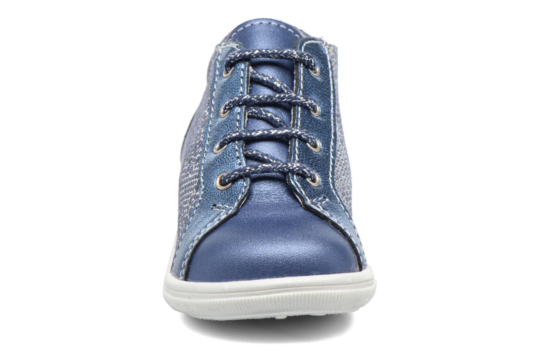 Schnürschuhe Bopy Zental blau schuhe getragen
