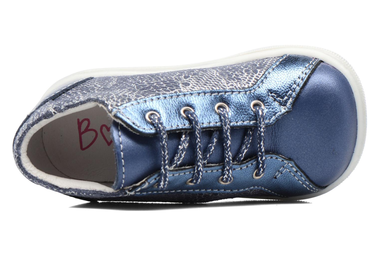Schnürschuhe Bopy Zental blau ansicht von links