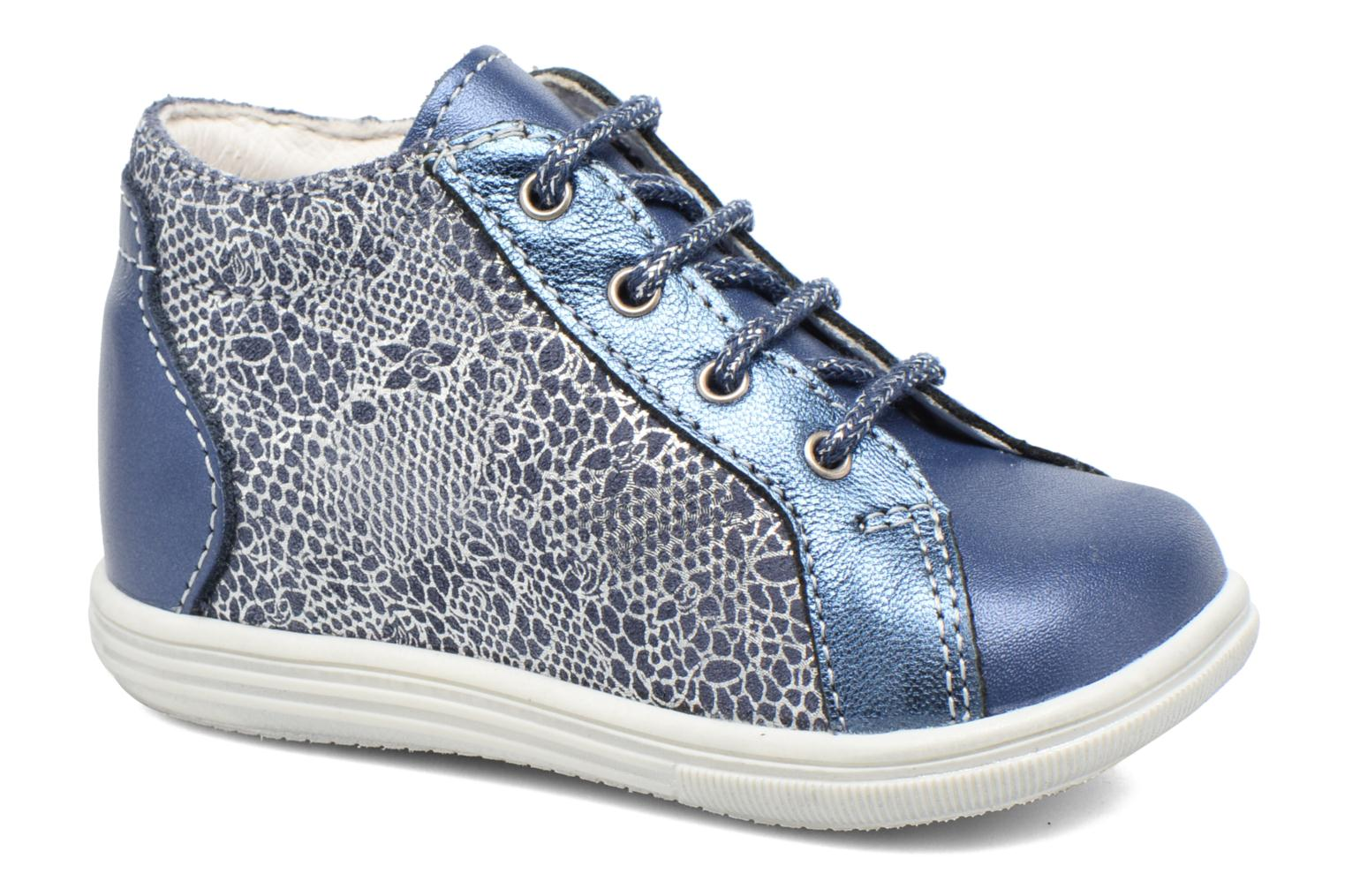Lace-up shoes Bopy Zental Blue detailed view/ Pair view