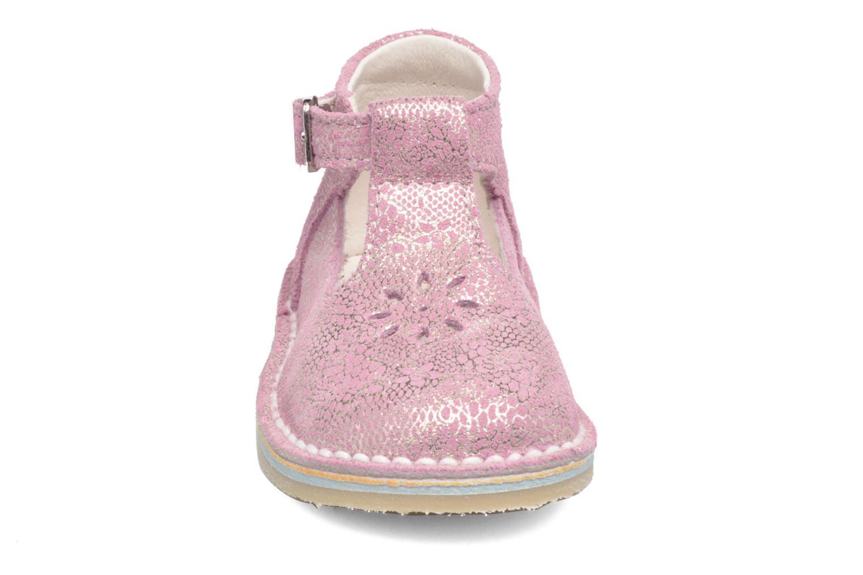 Bottines d'été Bopy Mapa Rose vue portées chaussures