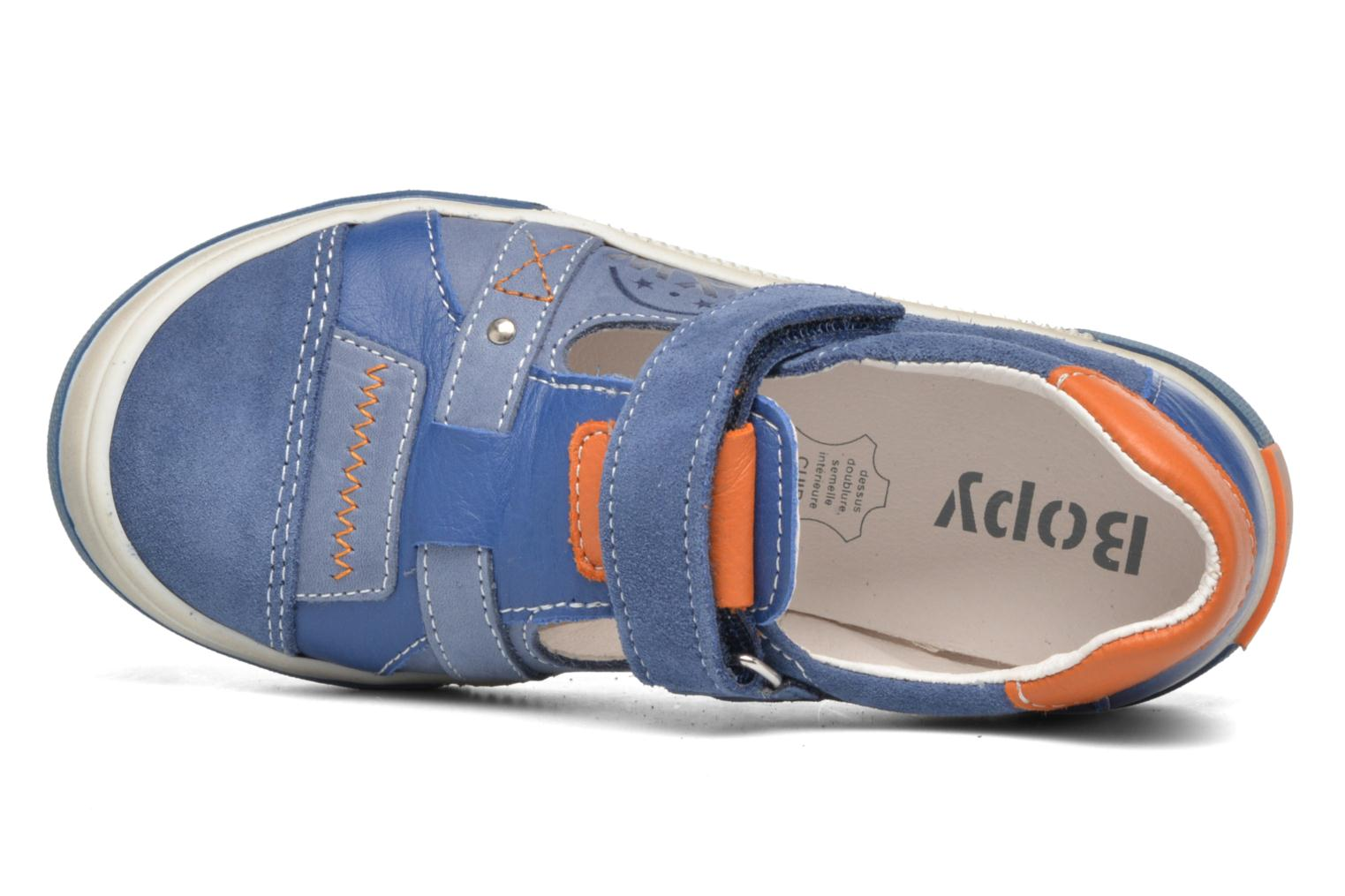 Velcro shoes Bopy Vadiso Blue view from the left