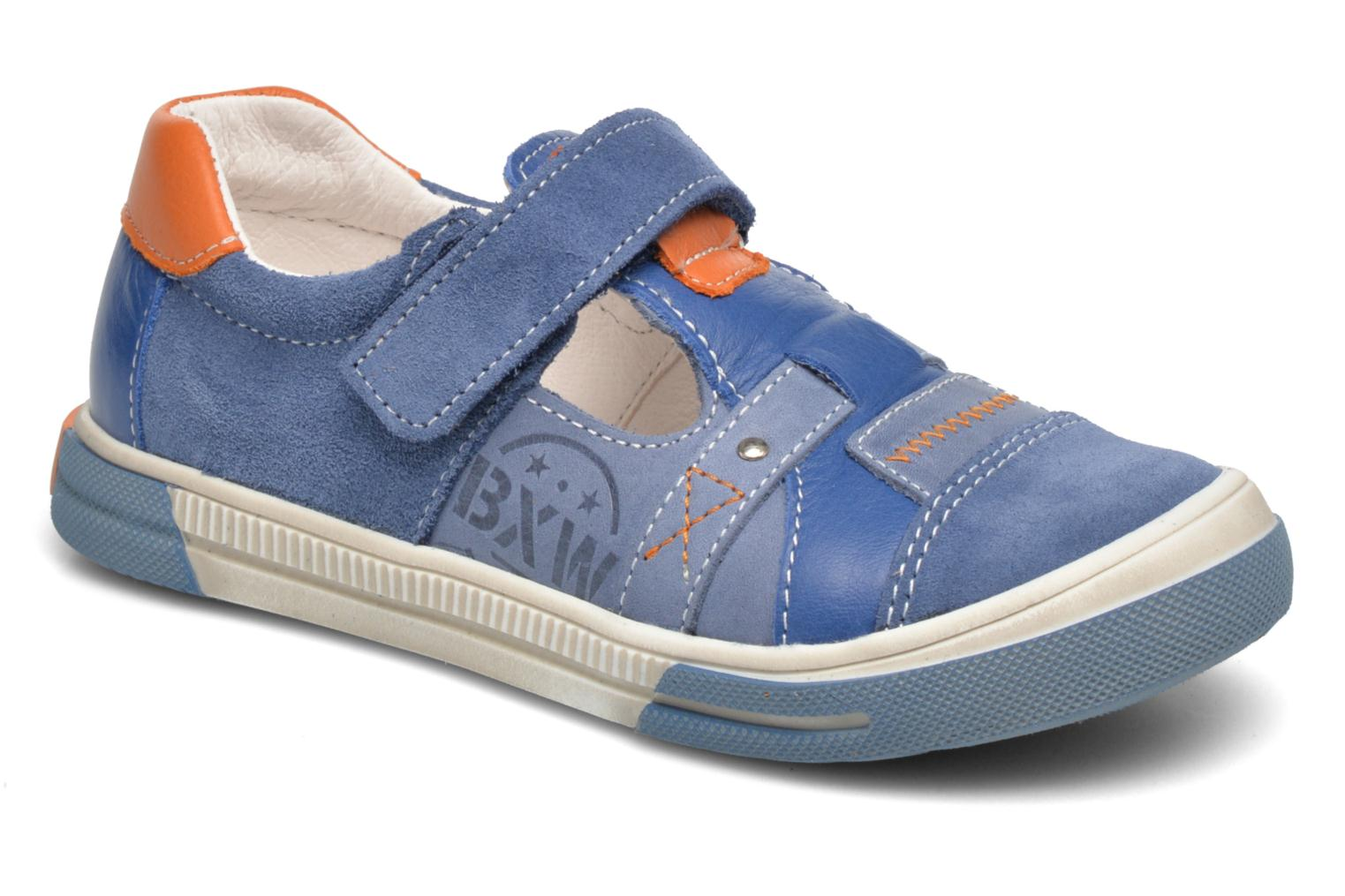 Velcro shoes Bopy Vadiso Blue detailed view/ Pair view
