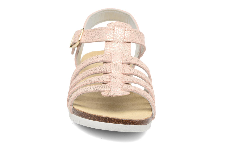 Sandales et nu-pieds Bopy Evali Rose vue portées chaussures