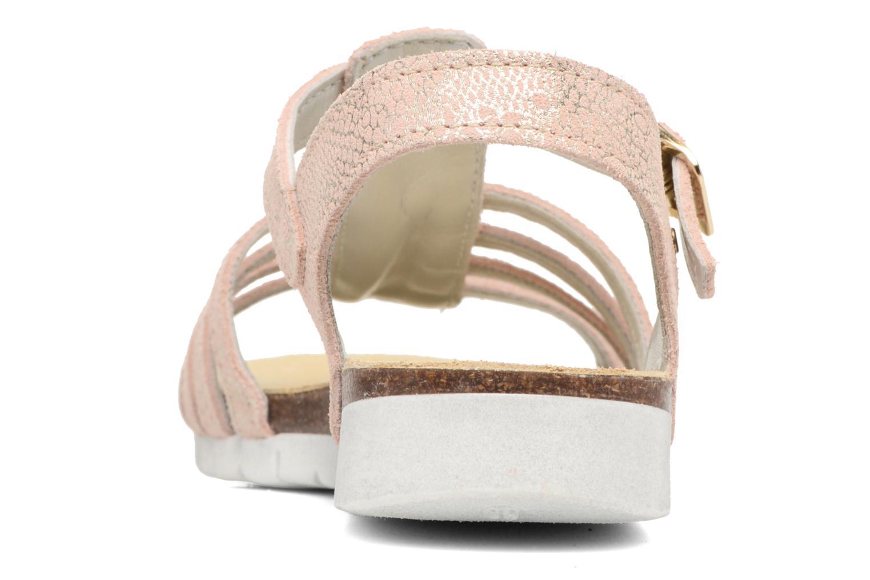Sandales et nu-pieds Bopy Evali Rose vue droite