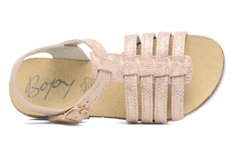 Sandales et nu-pieds Bopy Evali Rose vue gauche