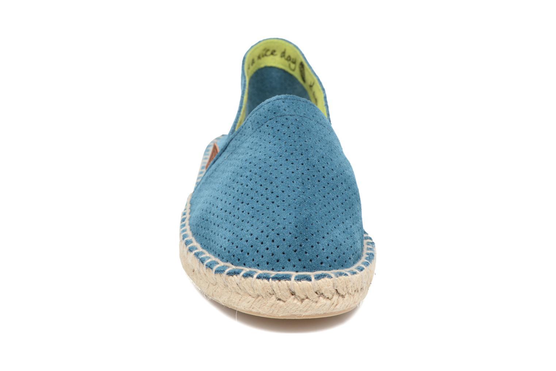 Espadrilles Gioseppo Torvisco Bleu vue portées chaussures