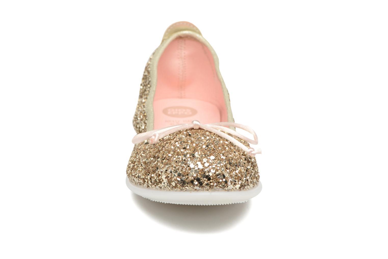 Ballerines Gioseppo Celinda Or et bronze vue portées chaussures