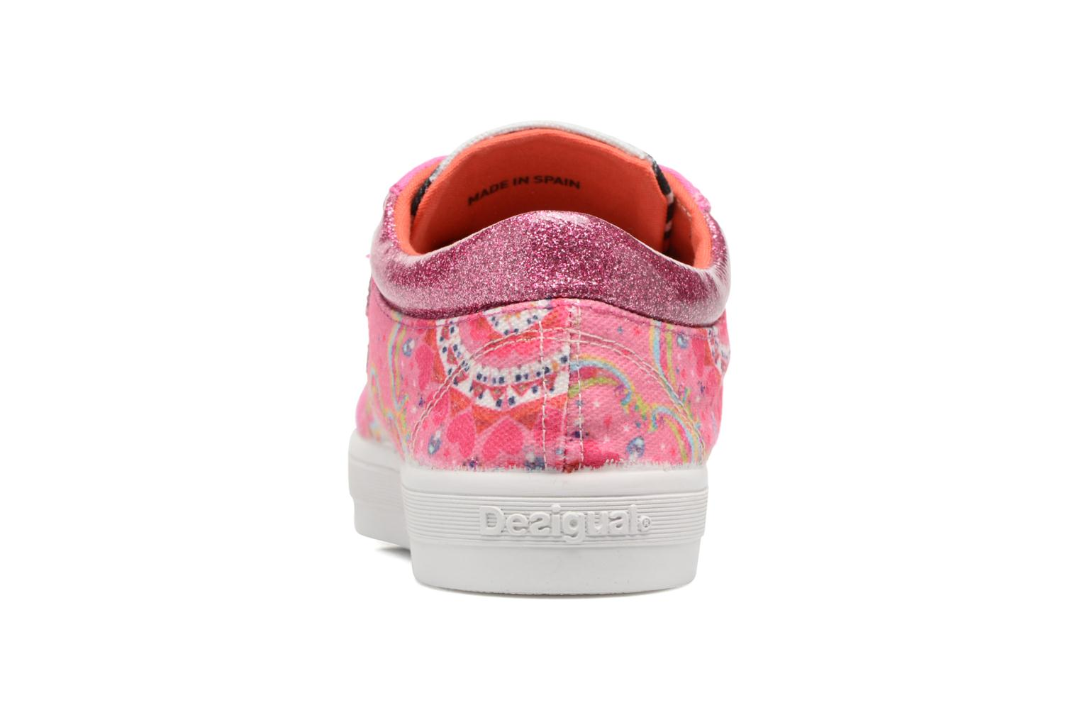 Trainers Desigual Silver Mini 2 Pink view from the right