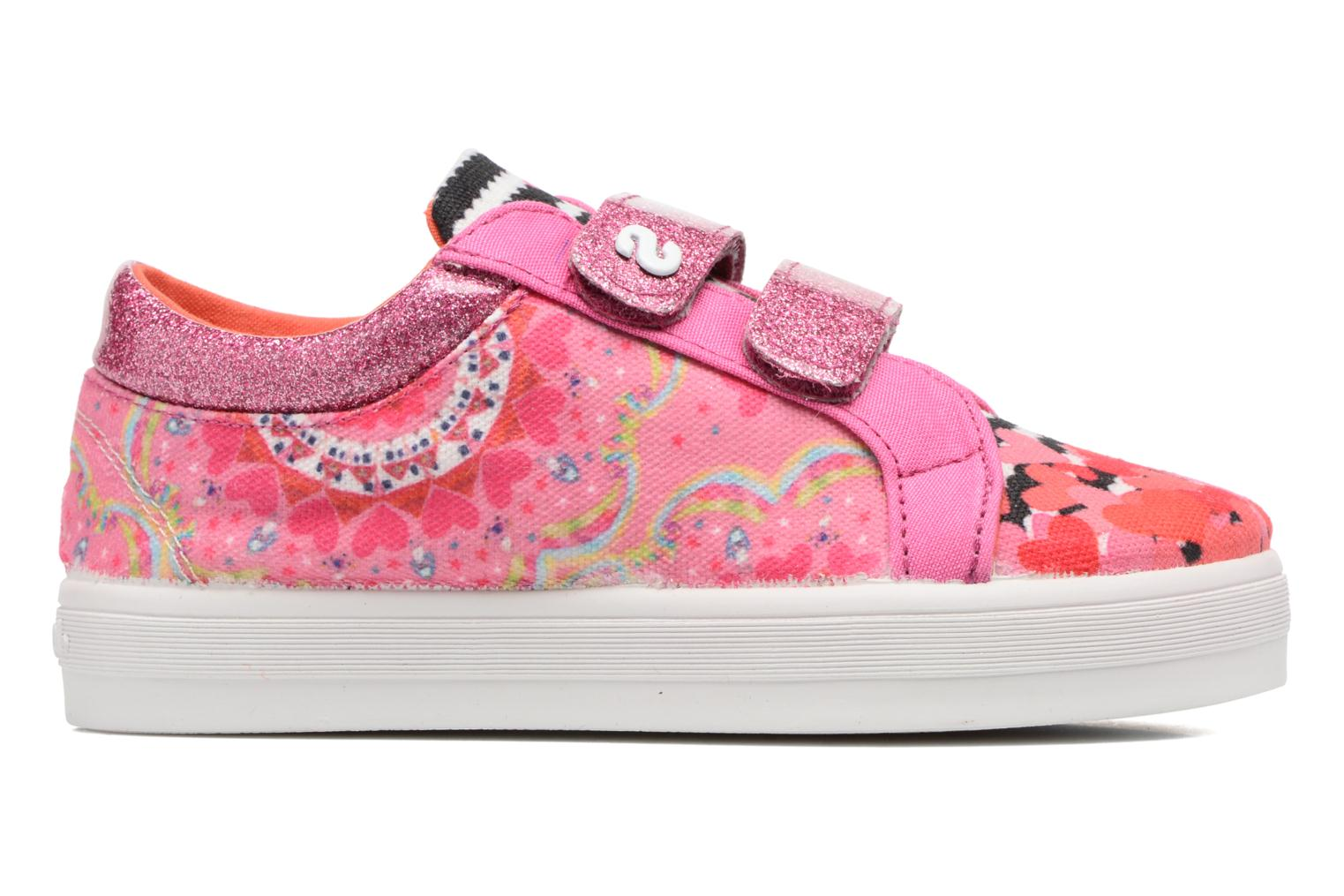 Trainers Desigual Silver Mini 2 Pink back view
