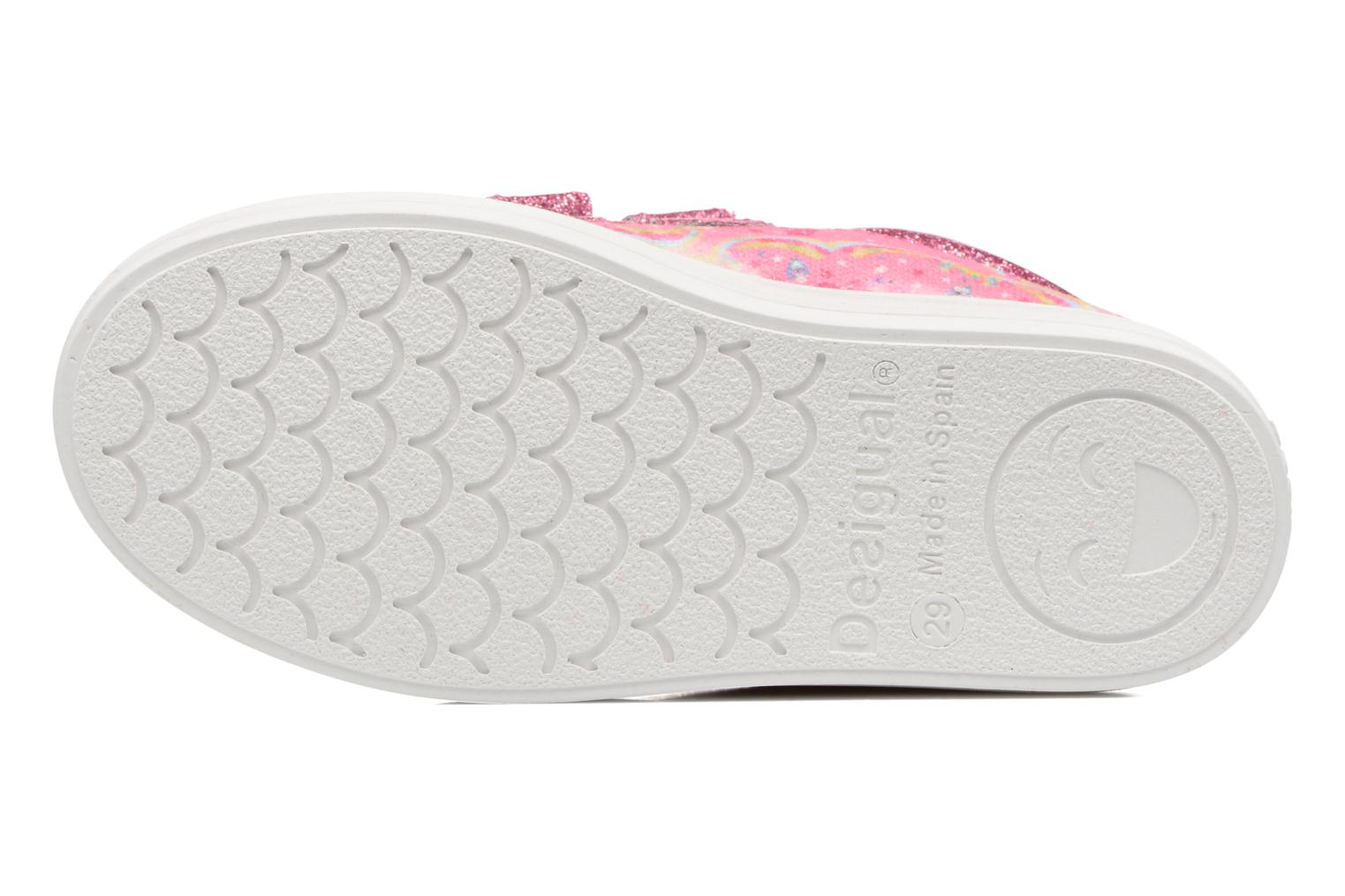 Baskets Desigual Silver Mini 2 Rose vue haut
