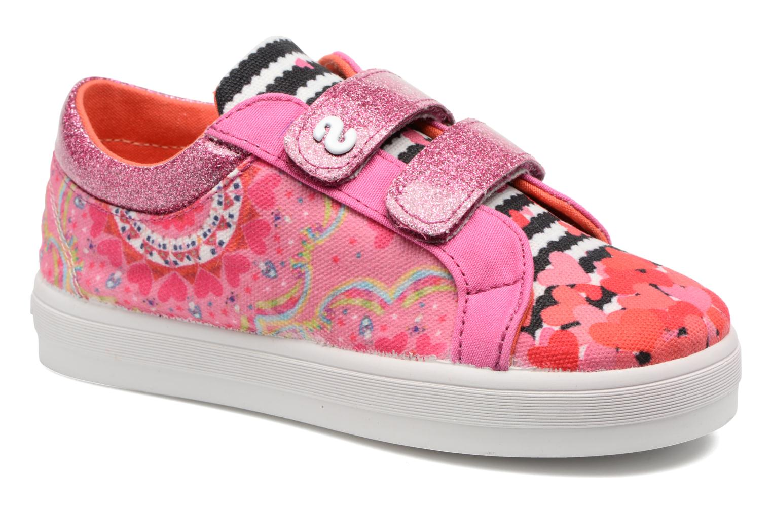 Trainers Desigual Silver Mini 2 Pink detailed view/ Pair view