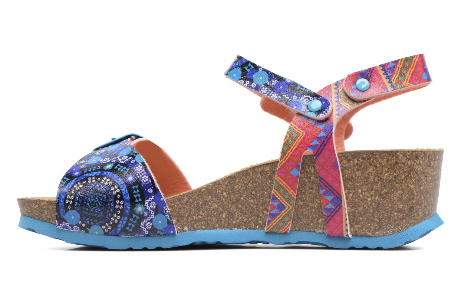 Sandalias Desigual Strips Wedge Multicolor vista de frente