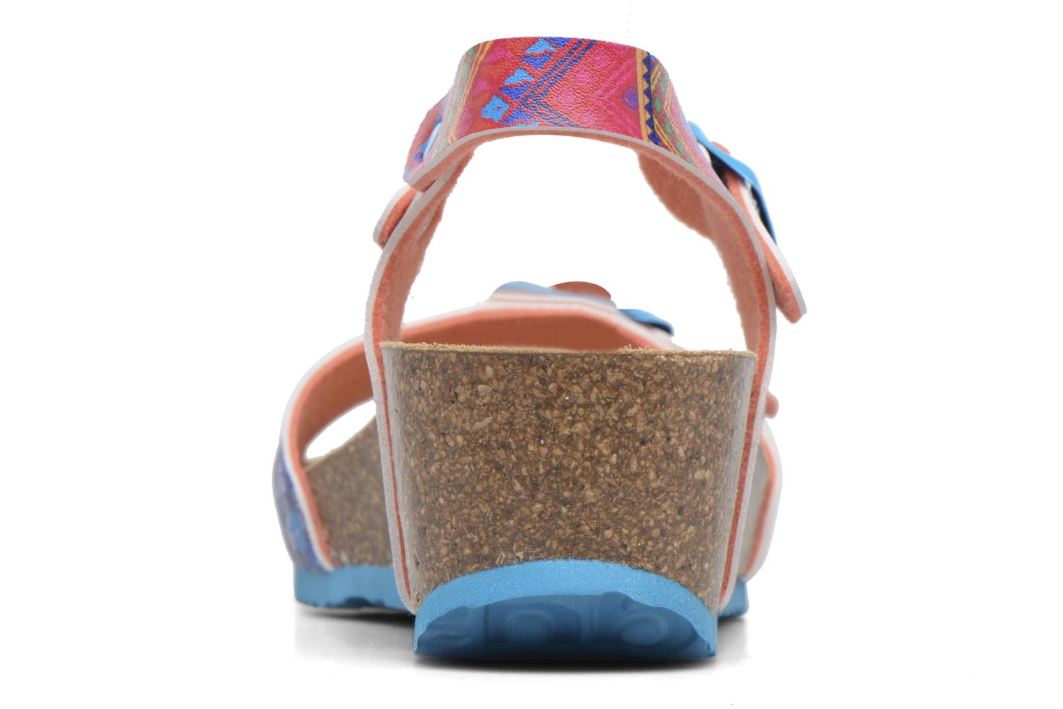 Sandalias Desigual Strips Wedge Multicolor vista lateral derecha