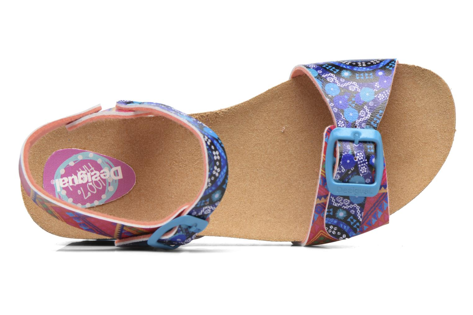 Sandalias Desigual Strips Wedge Multicolor vista lateral izquierda