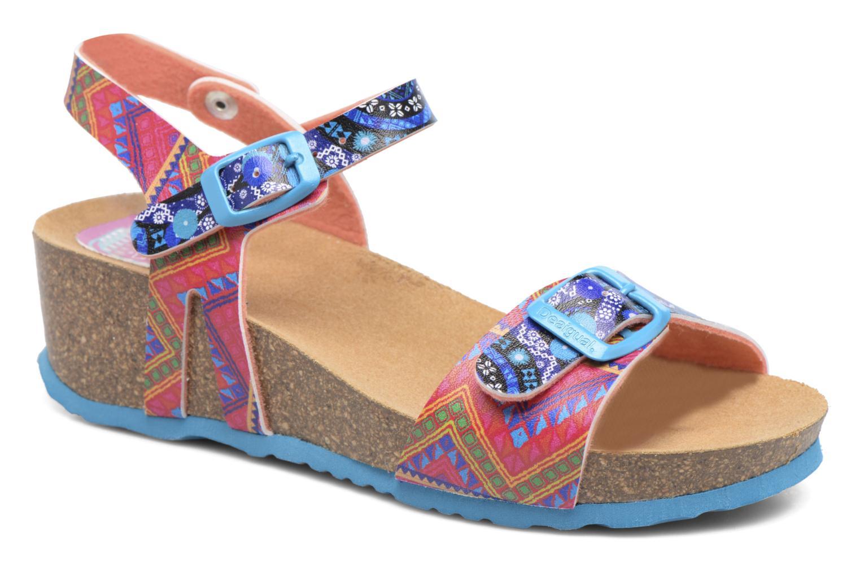 Sandales et nu-pieds Desigual Strips Wedge Multicolore vue détail/paire