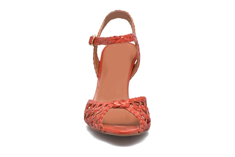 Sandales et nu-pieds Heyraud EGLANTINE Rouge vue portées chaussures