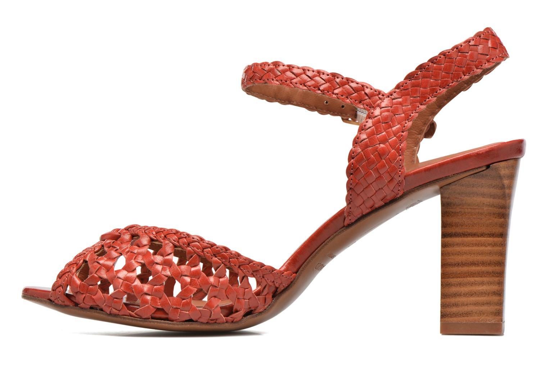 Sandales et nu-pieds Heyraud EGLANTINE Rouge vue face