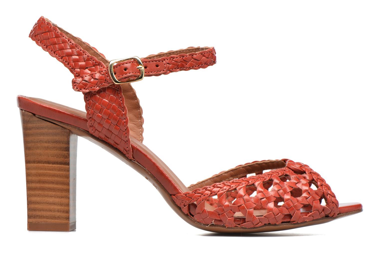 Sandales et nu-pieds Heyraud EGLANTINE Rouge vue derrière