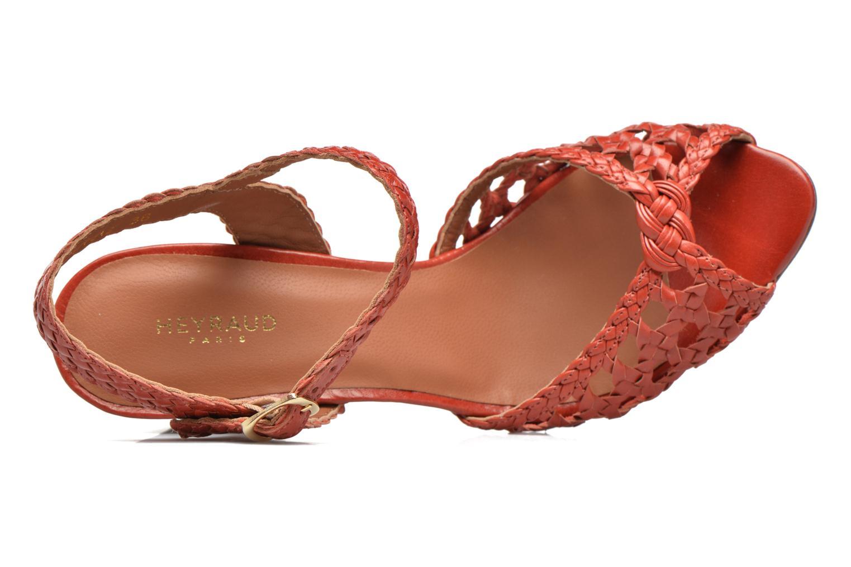 Sandales et nu-pieds Heyraud EGLANTINE Rouge vue gauche