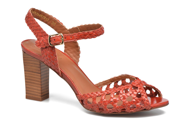 Sandales et nu-pieds Heyraud EGLANTINE Rouge vue détail/paire