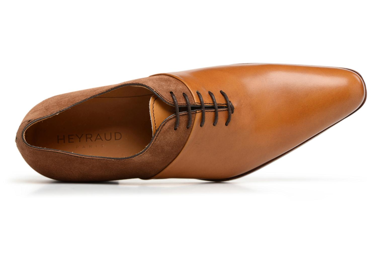 Chaussures à lacets Heyraud ELRED Marron vue gauche