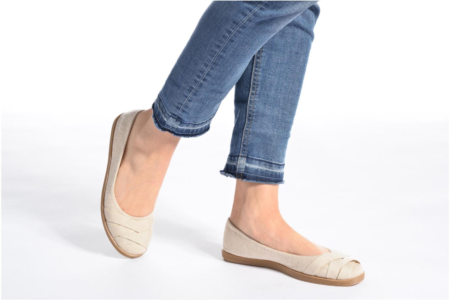 Ballet pumps Blowfish Glo2 Beige view from underneath / model view
