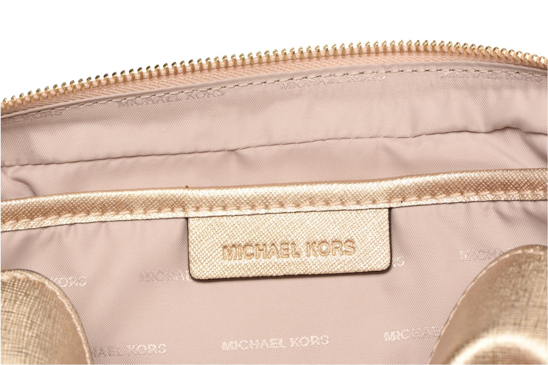 Bolsos de mano Michael Michael Kors LG EW Crossbody Oro y bronce vistra trasera