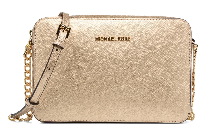 Bolsos de mano Michael Michael Kors LG EW Crossbody Oro y bronce vista de detalle / par