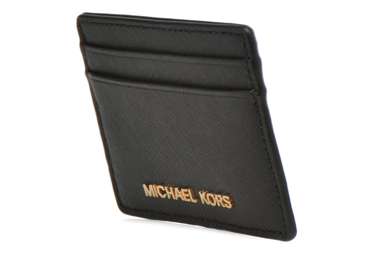 Marroquinería pequeña Michael Michael Kors Money Pieces CARDHOLDER Negro vista del modelo
