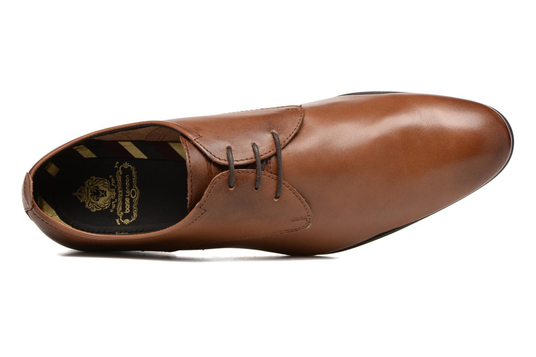 Chaussures à lacets Base London Business Marron vue gauche