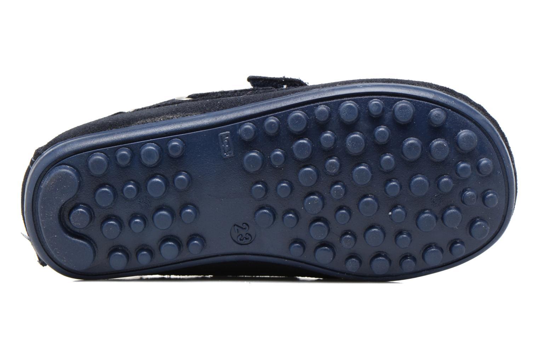 Chaussures à scratch Melania Danielo Bleu vue haut