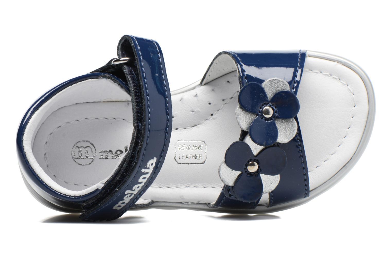 Sandales et nu-pieds Melania Clemente Bleu vue gauche