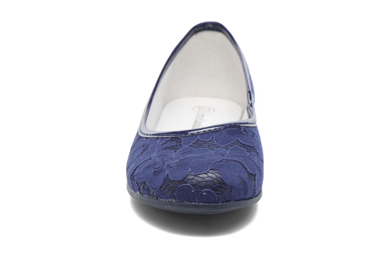 Ballerines Melania Rosella Bleu vue portées chaussures