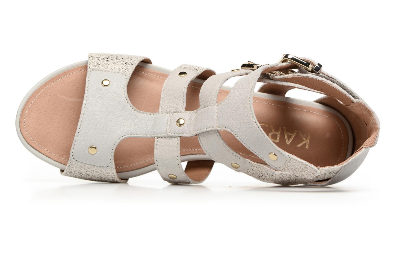 Sandales et nu-pieds Karston Konic Blanc vue gauche