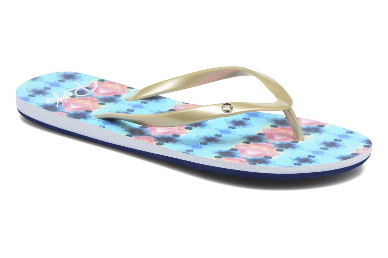 Flip flops Roxy Portofino Blue detailed view/ Pair view