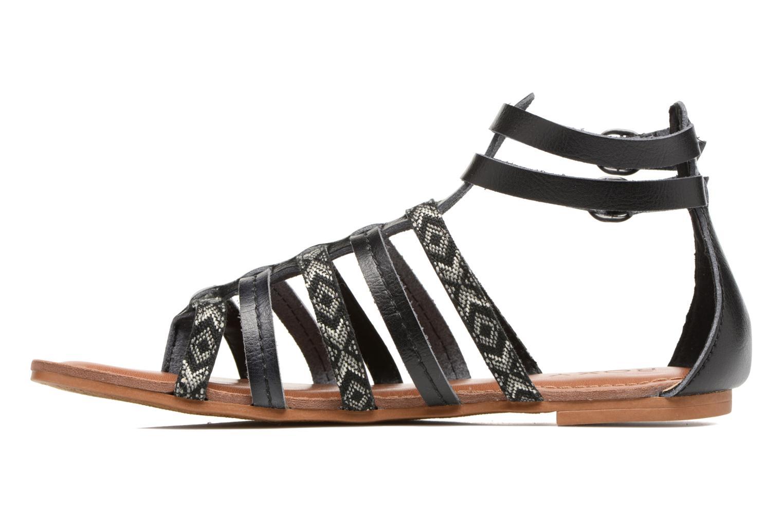 Sandales et nu-pieds Roxy Emilia Noir vue face