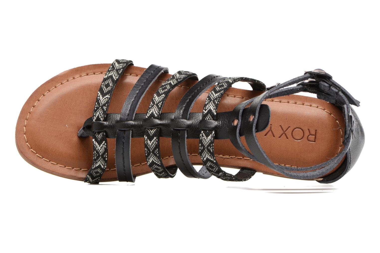 Sandales et nu-pieds Roxy Emilia Noir vue gauche