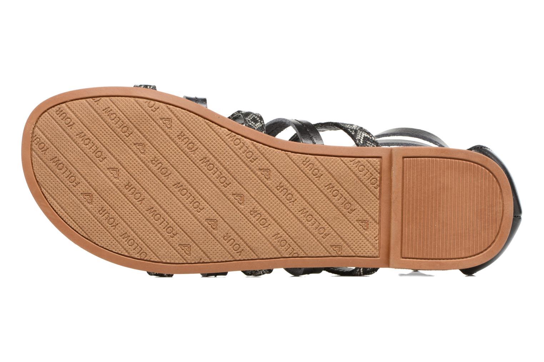 Sandales et nu-pieds Roxy Emilia Noir vue haut