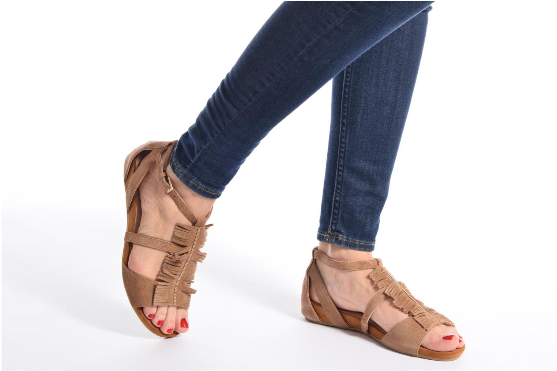 Sandales et nu-pieds Madison Emotion Marron vue bas / vue portée sac