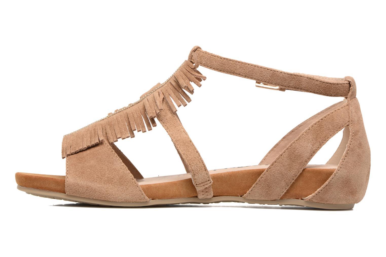 Sandales et nu-pieds Madison Emotion Marron vue face