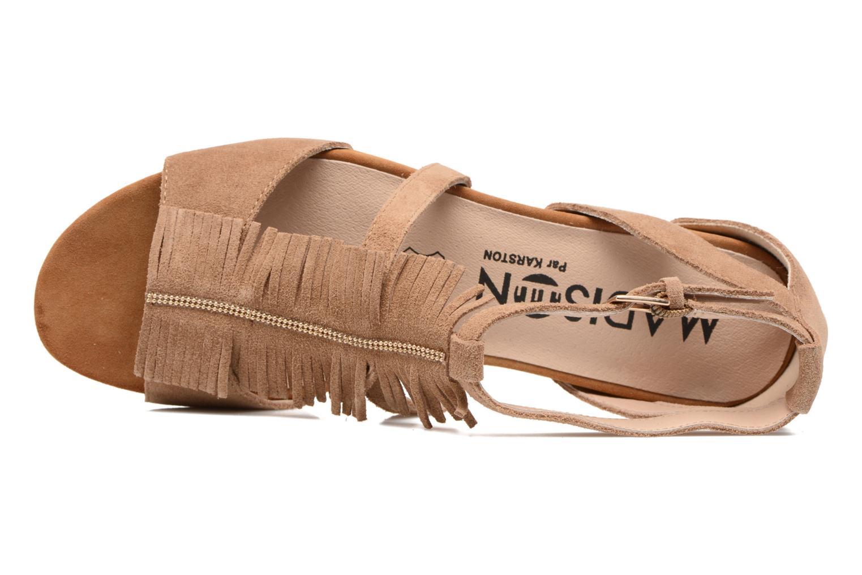 Sandales et nu-pieds Madison Emotion Marron vue gauche