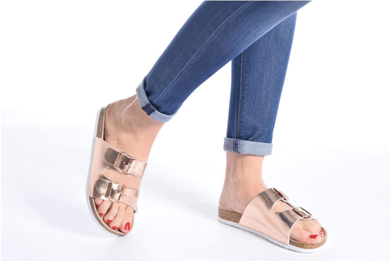 Sandales et nu-pieds I Love Shoes Mcbee Or et bronze vue bas / vue portée sac